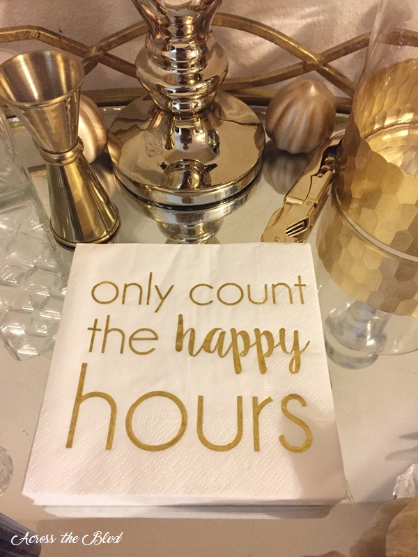 Only Count the Happy Hours Napkins
