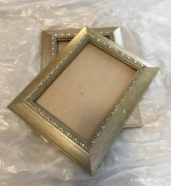 Simple DIY Peacock Decor Old Frames