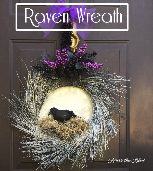 Raven Wreath for Halloween Across the Blvd