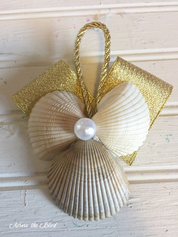 Sea Shell Angel Ornament Across the Blvd