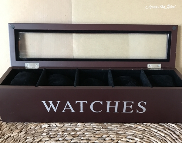 Thrift Store Watch Box Makeover Across the Blvd