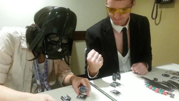 Hipsters Playing Star Wars X-Wing Miniatures