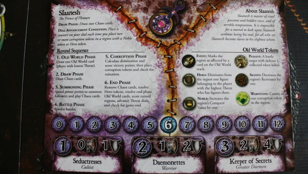 Chaos in the Old World Slaanesh card