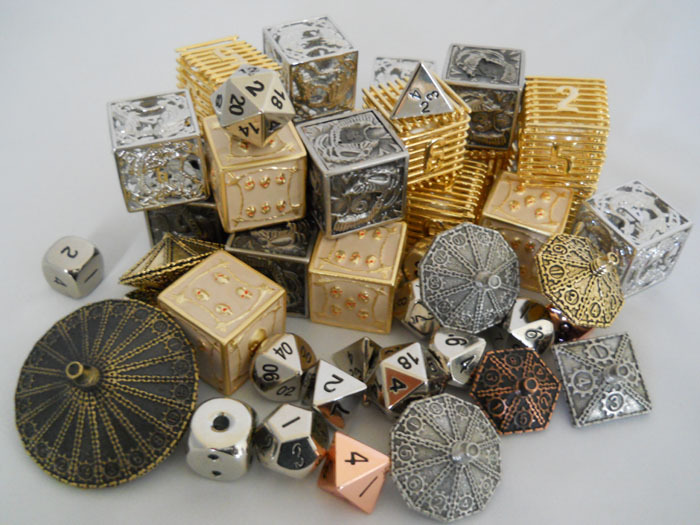 custom metal game dice