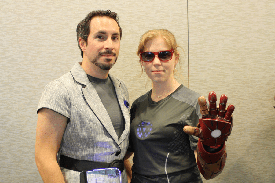 Geek Girl Con Pepper Potts and Tony Stark Iron Man Cosplay