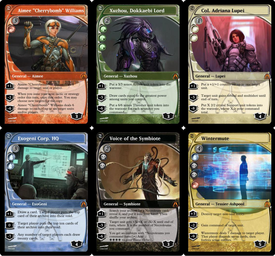Space the Convergence planeswalkers