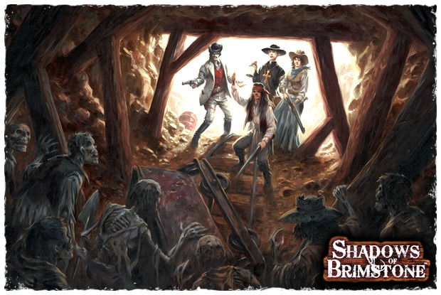 Shadows Over Brimstone Kickstarter Board Game