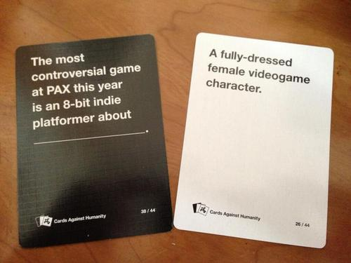 PAX 2013 Cards Against Humanity cards