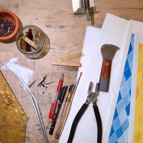 attrezzi riparazione vetrate artistiche