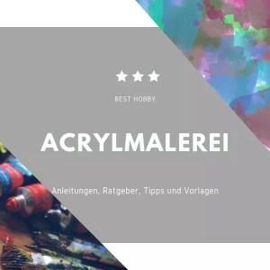 Schwammtupfen Mit Acrylfarben