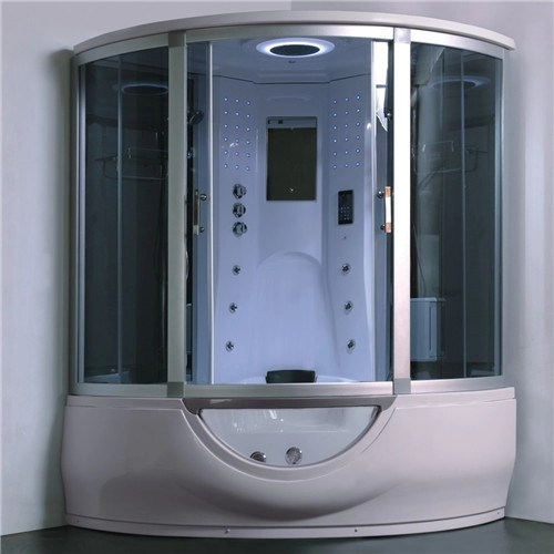 Luxury Steam Shower Bathtub Combo With Spa Tub Home