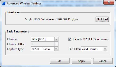 Wireshark select channel using NDIS WiFi network card on Windows