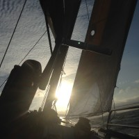 Sunset Sailing on USA 76 America's Cup Yacht