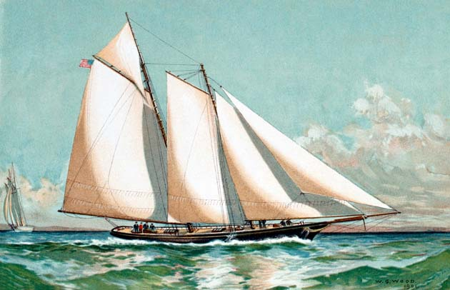 """America"" the schooner that won the very first America's Cup"