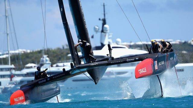 SailGP's F50 catamaran's in action.