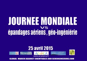 JOURNEE MONDIALE vs CHEMTRAILS GEO-INGENIERIE