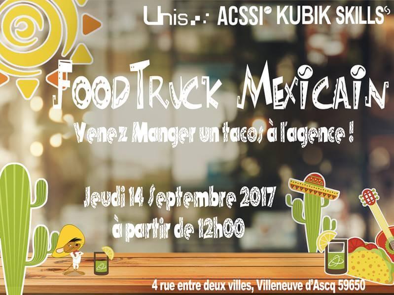 Déjeuner / Food-Truck à l'agence le jeudi 14 Septembre !