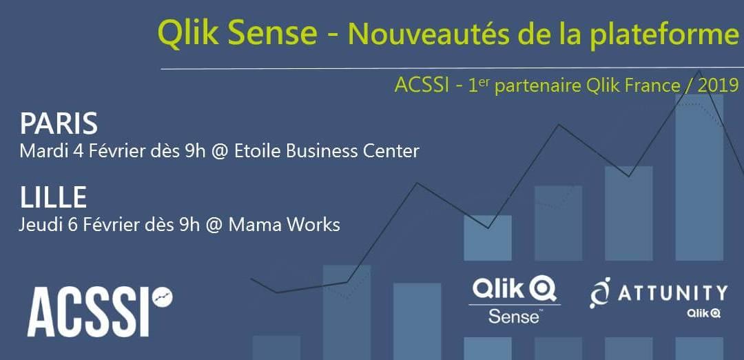 Nouveautés Qlik – Matinales à Paris et Lille les 4 et 6 Février 2020