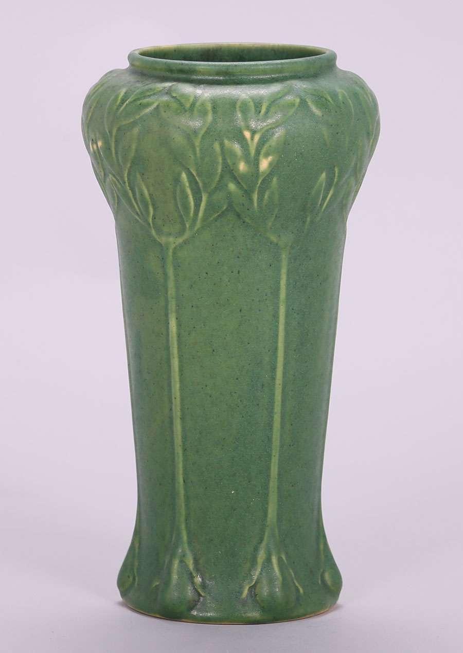Roseville Chloron Matte Green Vase California Historical
