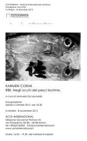 KARMEN CORAK – RIBI Negli occhi dei pesci lacrime