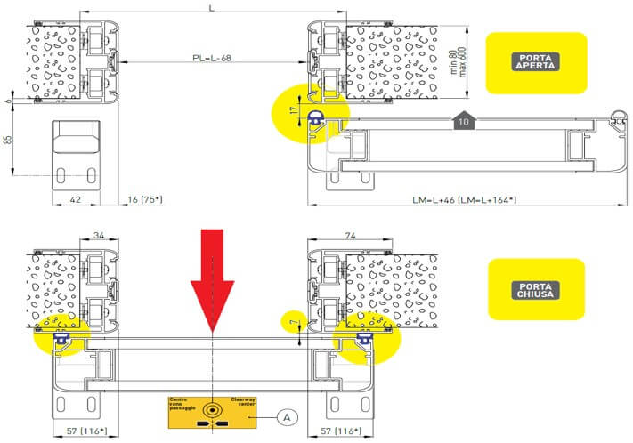 ACHM20 Hermetic Door Diagram