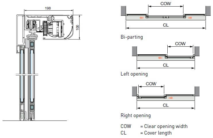 ACSL10 Sliding Door Diagram