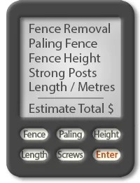 Fence estimate calculator - guide to pricing a new Paling fence and fencing removal