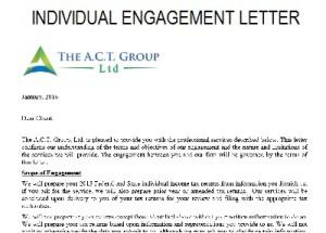individual tax plan agreement