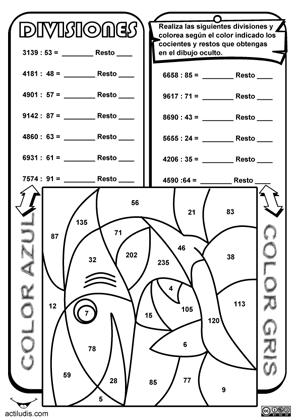 División entera II: 3 cifras o más en dividendo y 2 en divisor ...