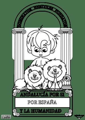 2 Fichas para colorear y recortar el escudo de Andalucía   Actiludis