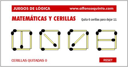 Juego Con Cerillas Actiludis