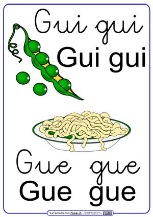 Letras Con Sonidos Gue Gui Letra Cursiva Actiludis