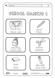 School Objects Actiludis