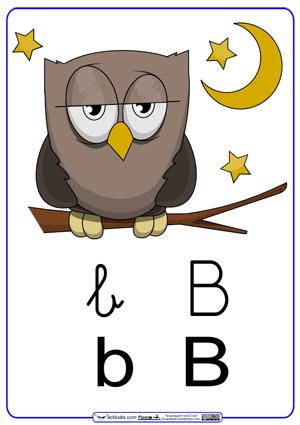 Letra b con graf a en cursiva actiludis for La b b