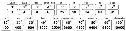Cuadrados de dígitos y decenas 04 SoL