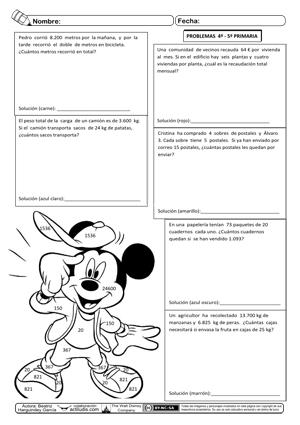 Problemas 14 Operaciones 4º Cuarto Primaria Cuadernos Rubio ...