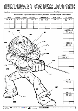 Producto 2 cifras por Tabla 3