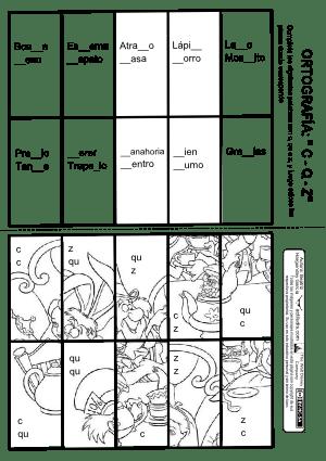 puzle orTografia c, alicia