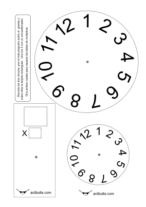 Tablas de multiplicar con 2 círculos