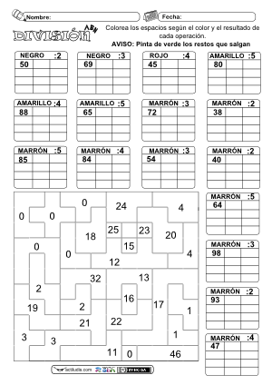 Dividendo 2 cifras y divisor 1 cifra 03