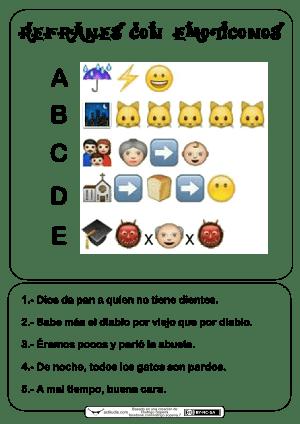 Refranes con emoticonos 4