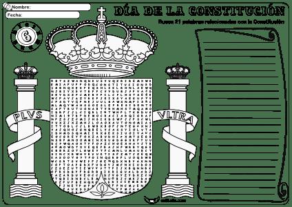 Sopa de letras Constitución sin Palabras