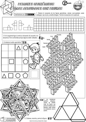 Patrones geometricos y otras actividades con figuras