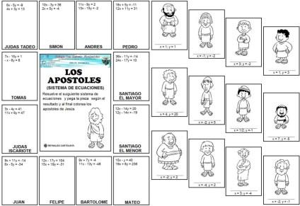 Apostoles - sistema de ecuaciones