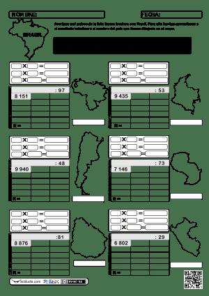 Dividendo Varias cifras y divisor 2 cifras 21