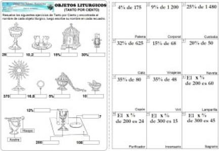 objetos liturgicos  tanto porciento
