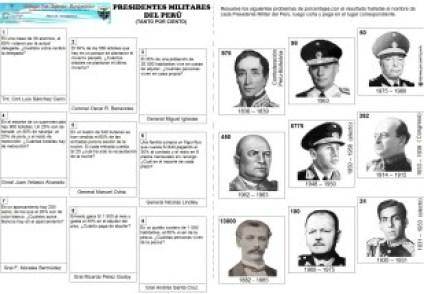 presidentes militares tanto por ciento