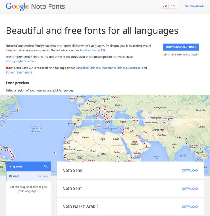 Google noto
