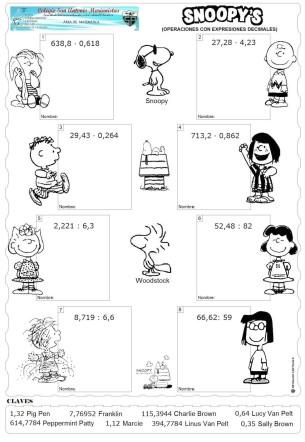 snoopy decimales