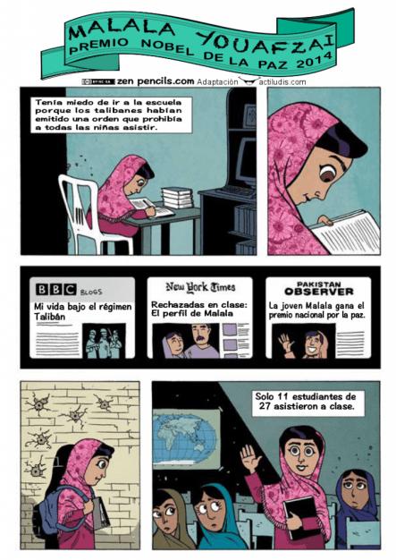 Comic Malala COLOR